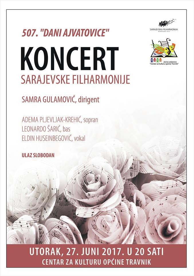 Večeras u Travniku koncert Sarajevske filharmonije