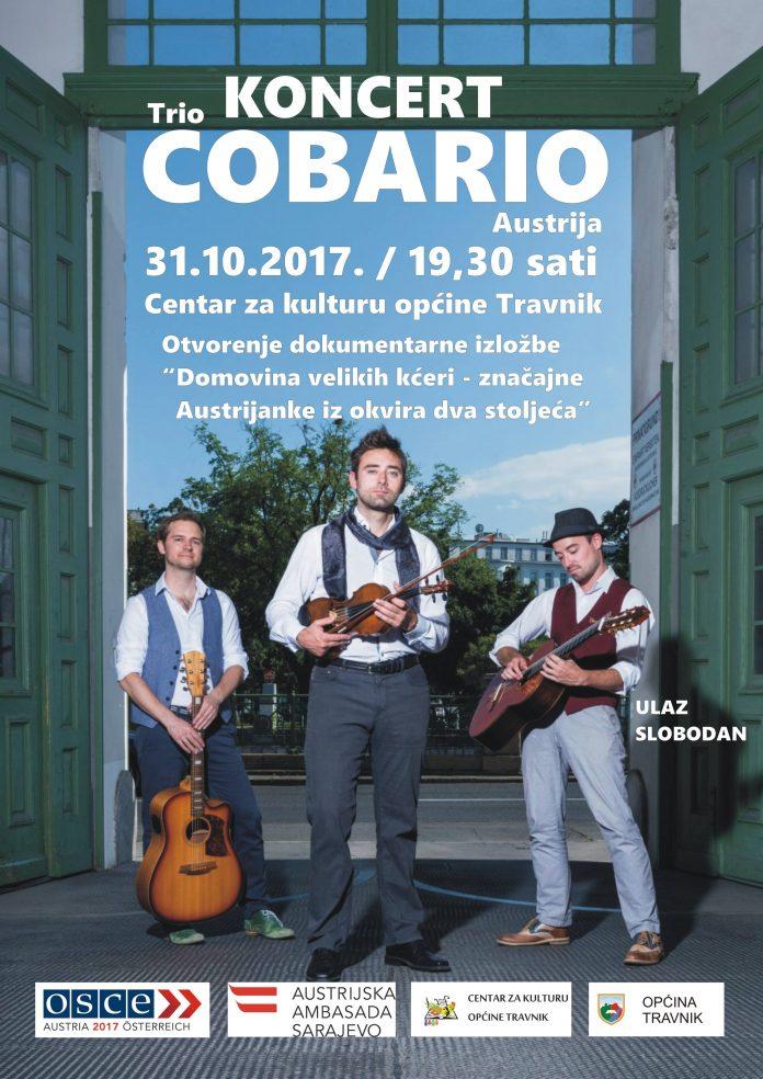 """Trio """"Cobario"""" održat će koncert u Travniku"""