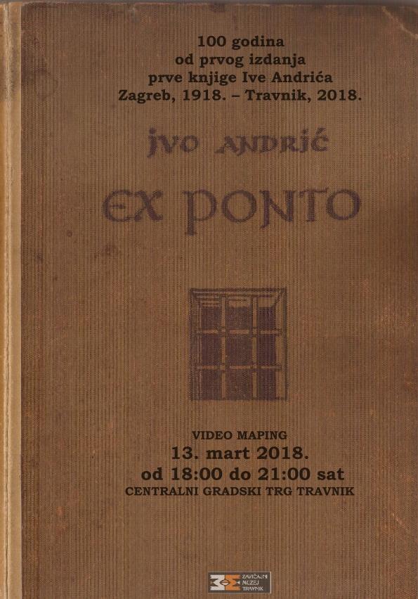 """100 godina od objavljivanja Andrićevog prvjenca """"Ex ponto"""""""