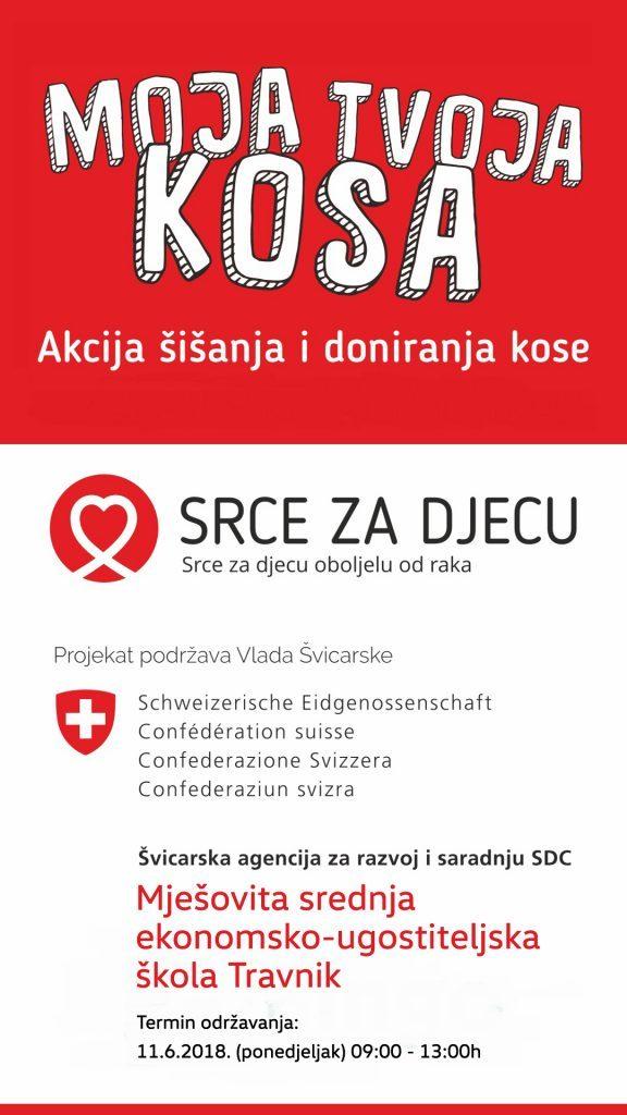 Mješovita srednja ekonomsko-ugostiteljska škola Travnik u humanoj akciji