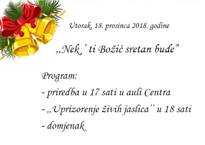 "KŠC ""Petar Barbarić"" organizuje priredbu ""Nek' ti Božić sretan bude"""