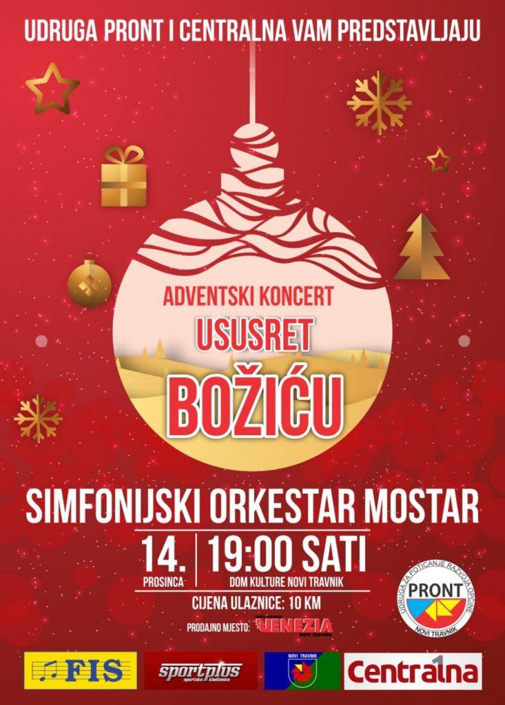 Simfonijski orkestar Mostar donosi božićnu čaroliju u Novi Travnik