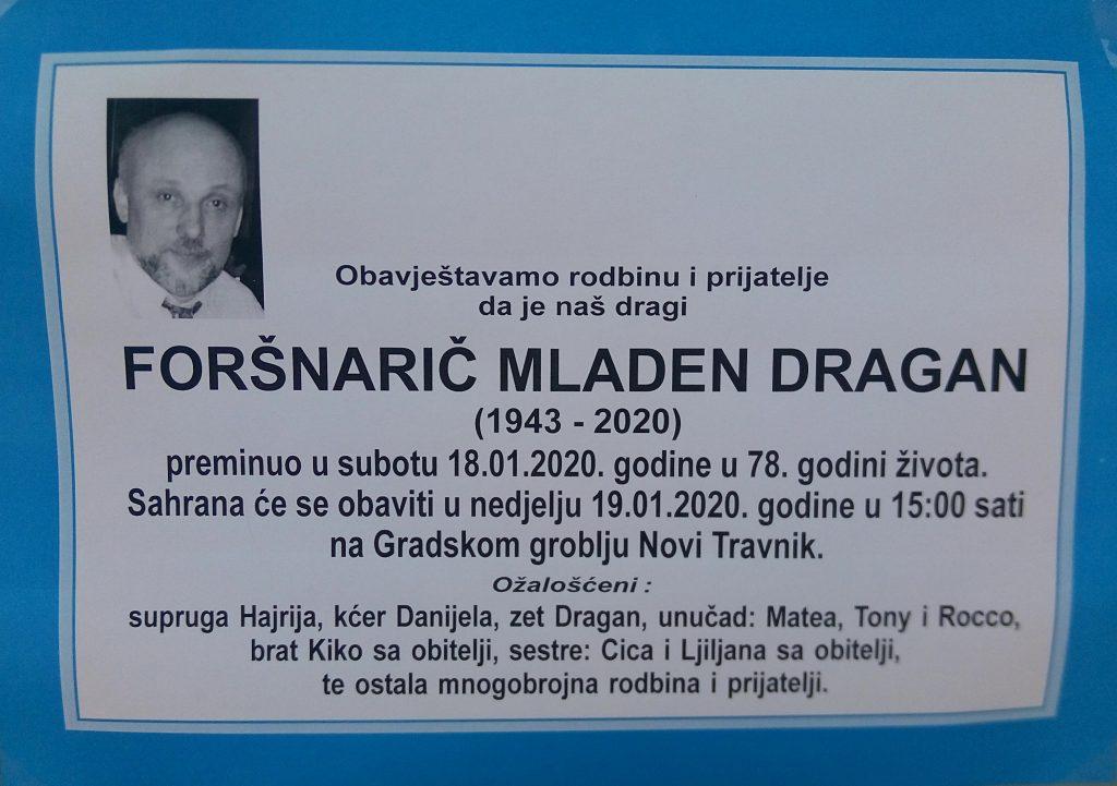 U Novom Travniku sahranjen novinar Dragan Foršnarič