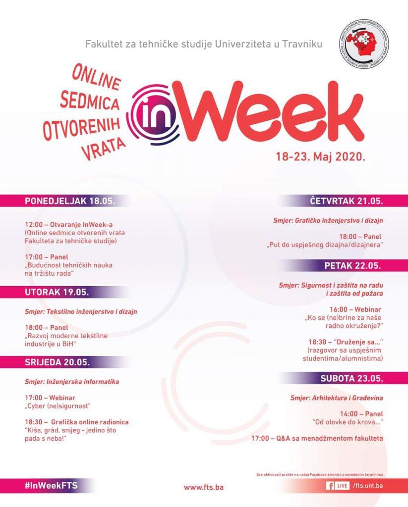 """Počinje """"InWeek"""" na Fakultetu za tehničke studije Univerziteta u Travniku"""
