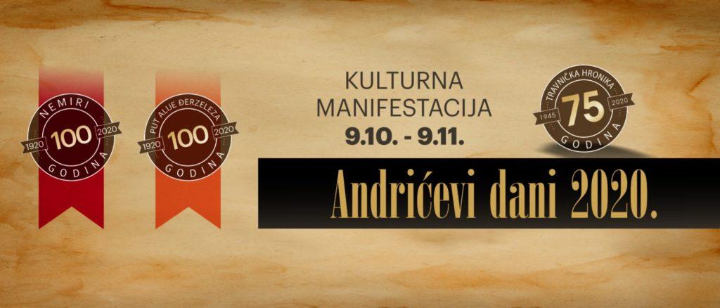 """U Travniku počinje kulturna manifestacija """"Andrićevi dani 2020"""""""