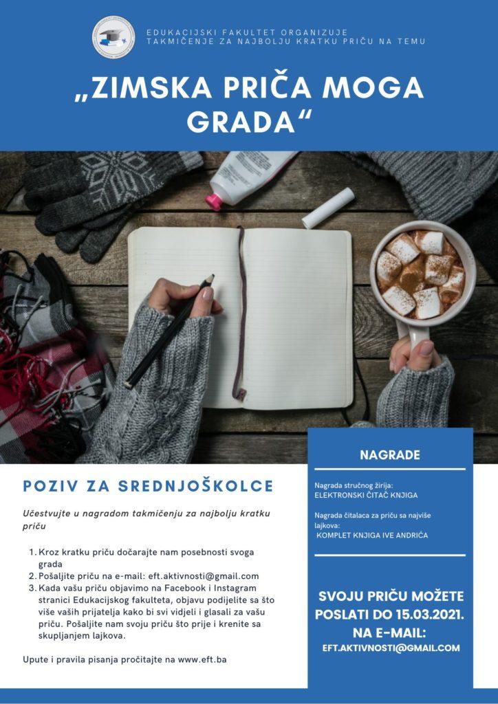 Edukacijski fakultet Travnik poziva srednjoškolce na nagradni Konkurs!