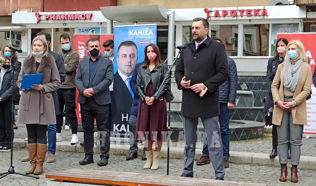"""Kandidat za načelnika Travnika Haris Kaniža: Mi smo """"Našu travničku priču"""" napravili u Travniku, a ne u Sarajevu!"""