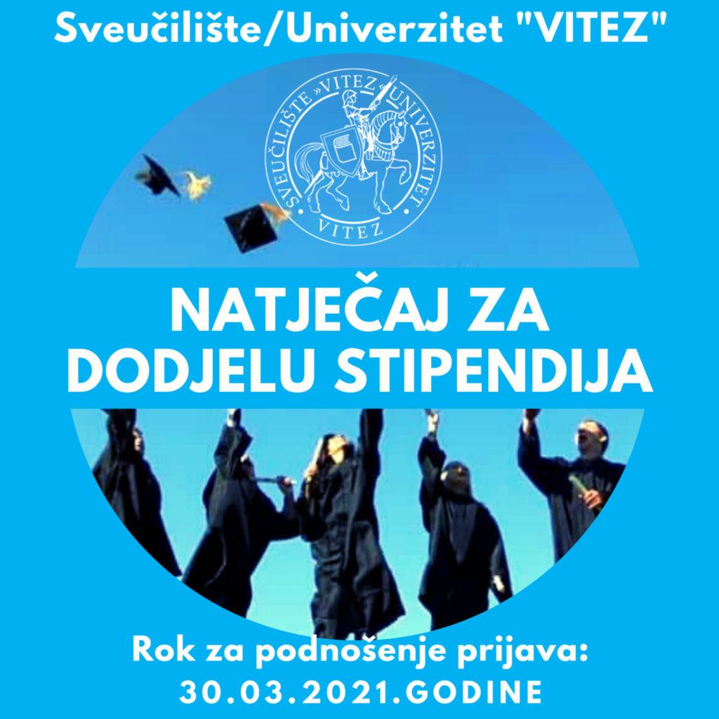"""Natječaj za dodjelu stipendija Sveučilišta/Univerziteta """"Vitez"""""""