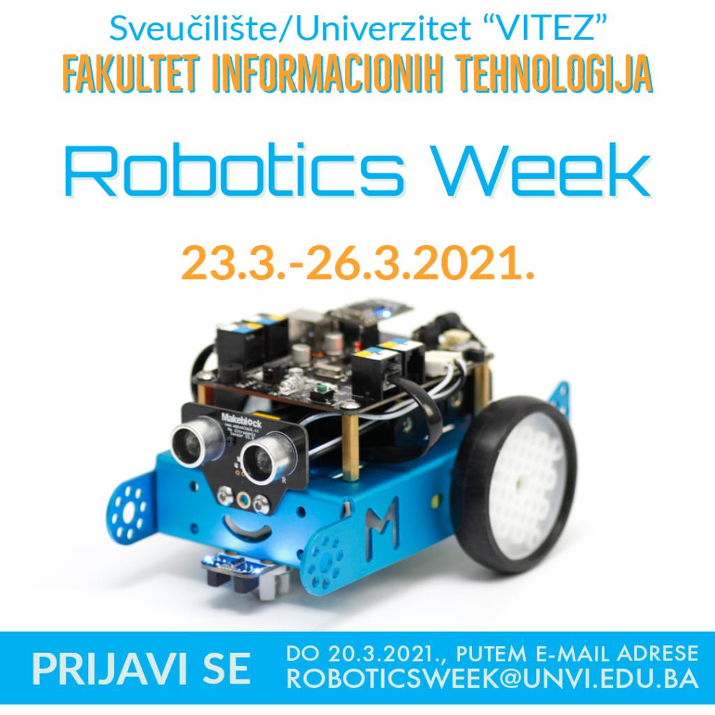"""Prijavite se za """"Robotics week"""" na Sveučilištu/Univerzitetu """"Vitez"""""""