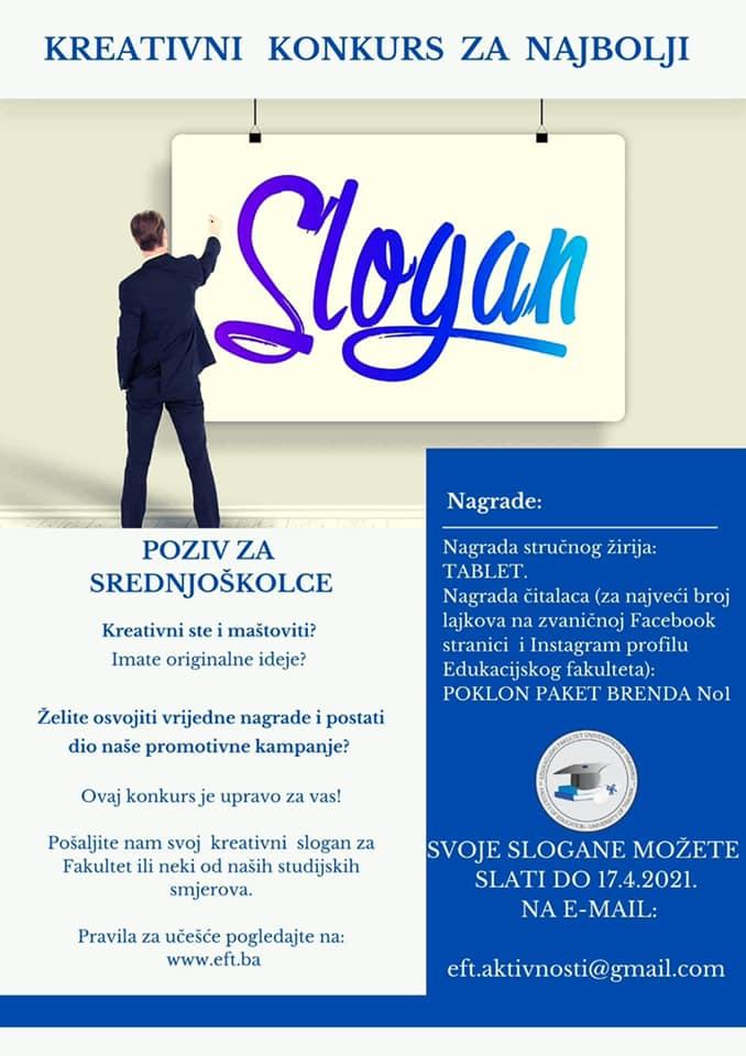 Edukacijski fakultet Travnik organizuje kreativni konkurs za najbolji slogan!