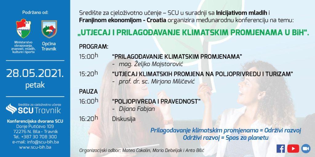 Sutra u Travniku Međunarodna konferecija: Utjecaj i prilagođavanje klimatskim promjenama u BiH