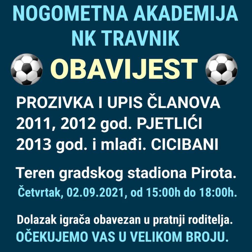 Važna obavijest i poziv iz Nogometnog kluba Travnik